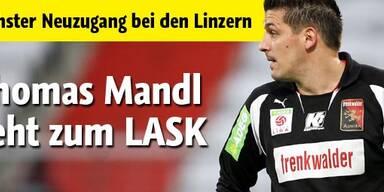 LASK verpflichtet Torhüter Mandl