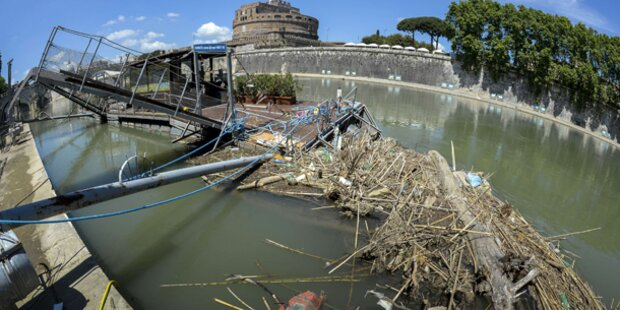 Tiber zu schmutzig für Touristenboote
