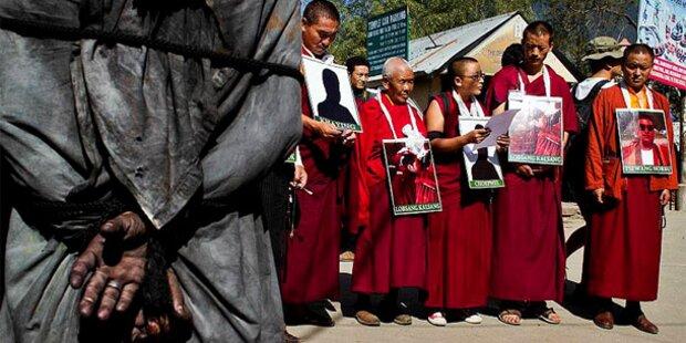 Tibeter-Proteste: Nonne zündete sich an