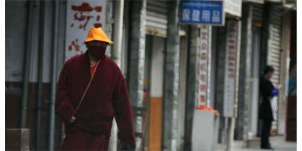 Tibetischer Mönche setzte sich selbst in Brand