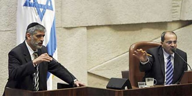 Eklat in Knesset: Araber vom Pult gezerrt