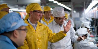 Apple-Chef besuchte die iPhone-Fabrik