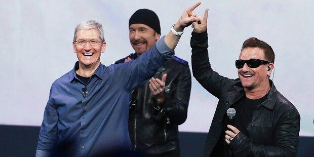 U2-Album: Zoff wegen Apple-Geschenk