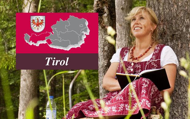 Das Tiroler-Madl trägt dieses Dirndl