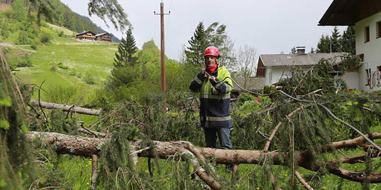 Unwetter-Schäden auch in Tirol