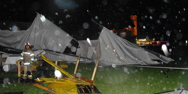 Gewitter und Sturm führten zu heftigen Schäden