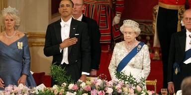 US-Präsident Obama und Gattin Michelle beim Staatsbankett im Buckingham Palast.