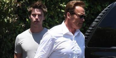 Nach dem Auszug von Sohn Patrick (17) aus der Familienvilla traf Arnie ihn zum Lunch.