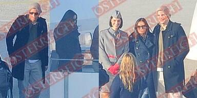 Demi Moore & Ashton Kutcher: Ankunft in Linz