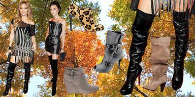 Stiefel im Herbst Jennifer Lopez Victoria Beckham