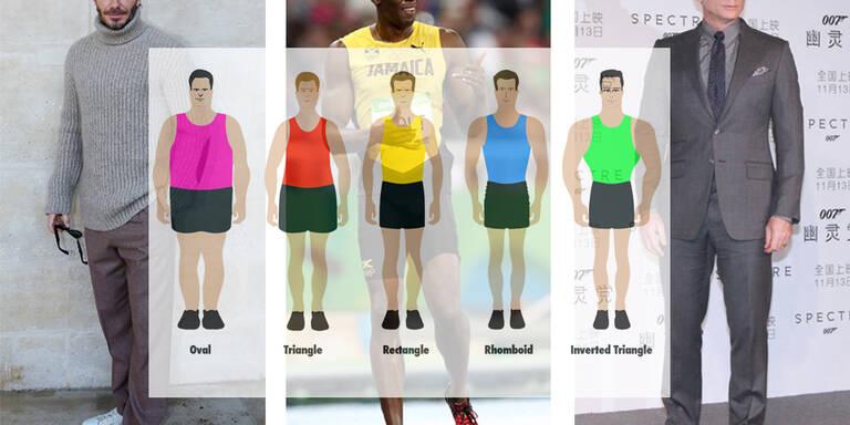 Die fünf Körpertypen des modernen Mannes