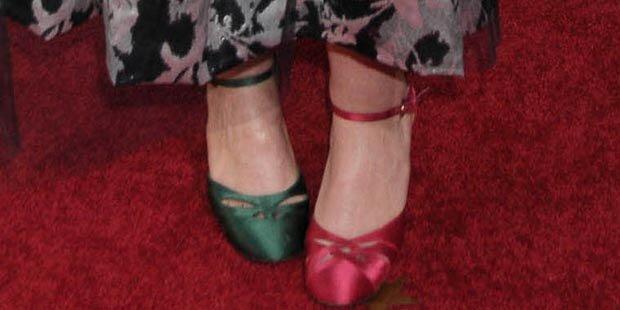 In verschiedenen Schuhen zu den Globes