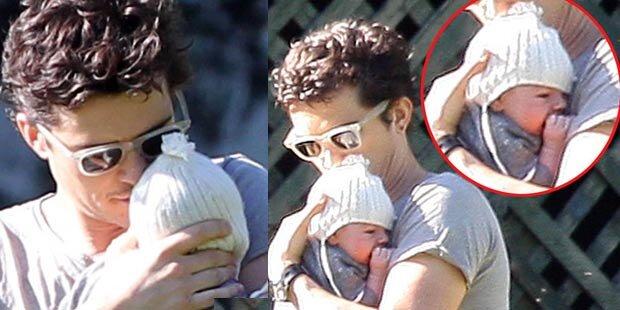 Entzückend: Orlando Bloom zeigt Baby Flynn