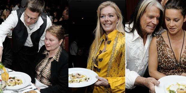 Prominente servierten in Wien Gala-Dinner