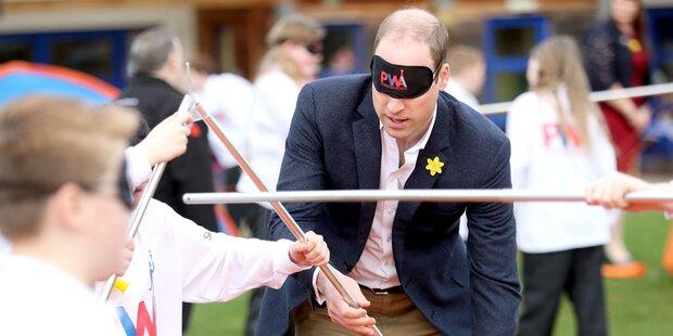 Prinz William: Kann er das blind?