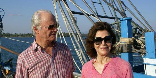 König Carl Gustaf und Silvia im Urlaub