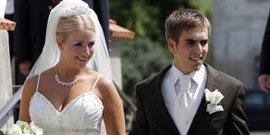 Fußball-Star Philipp Lahm hat geheiratet