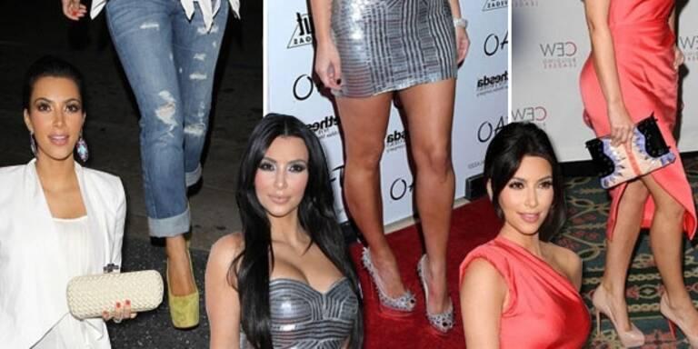 Kim Kardashian trägt NUR Louboutins