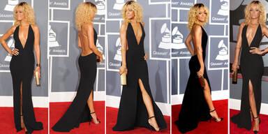 Rihanna fast nackt bei den Grammys