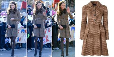 Kate Middleton im 270-Euro-Mantel