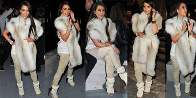 Kim Kardashian trägt Schuhe um 6.000 Dollar