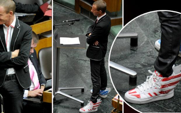 Stefan Petzner: Schuh-Werk sorgt für Wirbel