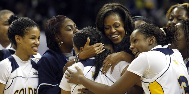 Michelle Obama von ihrer sportlichen Seite