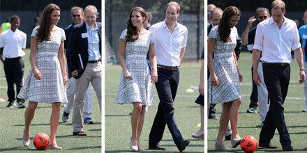 Fußball mit Wedges - das kann nur Kate