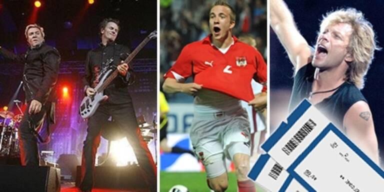 Gewinnen Sie im Club ÖSTERREICH die besten Tickets der kommenden Event-Highlights