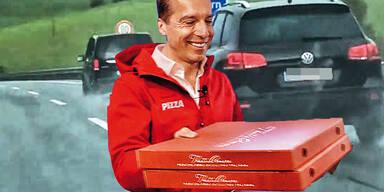 Kern lieferte Pizza im Dienstwagen
