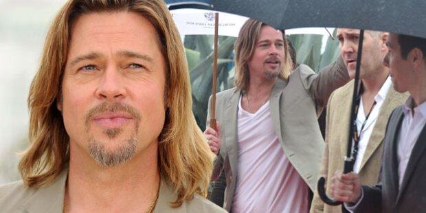 Krise? Pitt ohne Jolie in Cannes