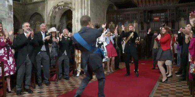 K&W: die Royals tanzend im Werbespot