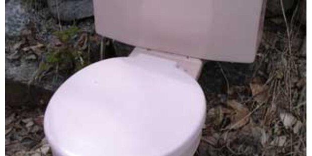 Missgeschick im Toiletten-Museum