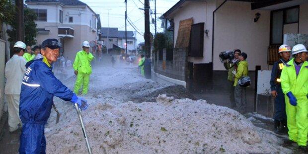 Ein halber Meter Hagel in Tokio