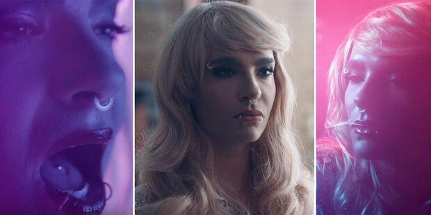 Perücke: Tokio Hotel im Conchita-Look