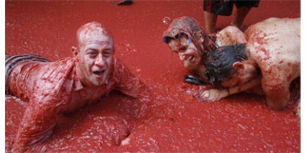 Größte Paradeiserschlacht der Welt in Spanien