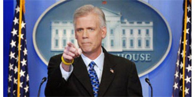 Bush-Sprecher kündigt Rücktritt an
