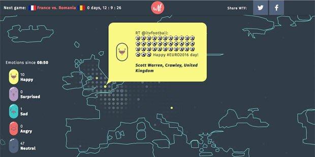 Heimisches Tool zeigt Emotionen der EM-Fans