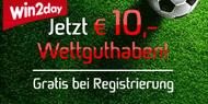 € 10,- Wettguthaben gratis!