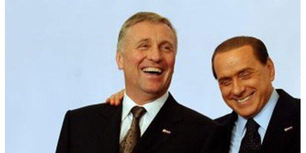 Nackter Tschechen-Premier bei Berlusconi