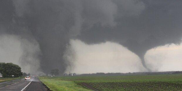 Zwillingstornado wütet in Nebraska