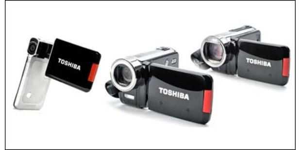 Drei neue FullHD-Camcorder von Toshiba