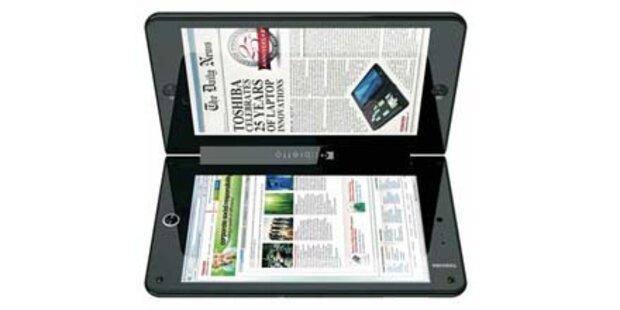 iPad-Gegner von Toshiba mit 2 Displays