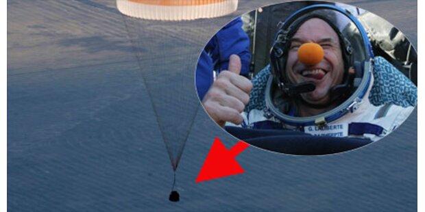 Weltraum-Clown wieder auf der Erde