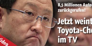 Toyota-Chef bricht in Tränen aus