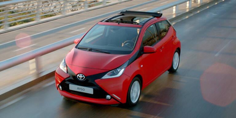 Toyota Aygo nun auch mit Faltdach