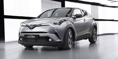 Toyota C-HR greift bei den Kompakt-SUVs an