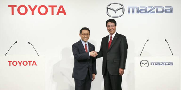 Toyota und Mazda bauen Allianz aus