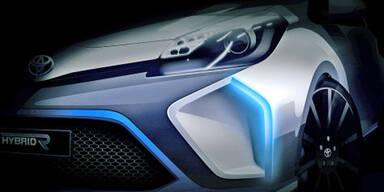 Toyota zeigt ein sportliches Hybrid-Auto