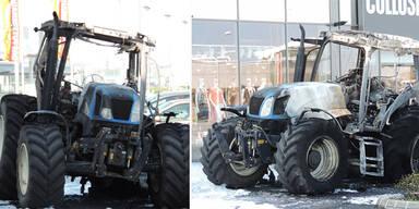 Bankomat-Diebe kamen mit Traktor